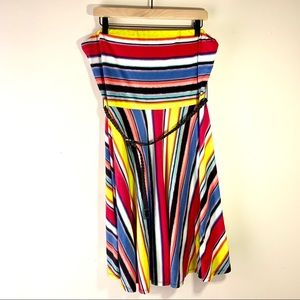 Maurices Plus Size Bright Striped Strapless Dress
